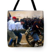 Action At The Front Tote Bag