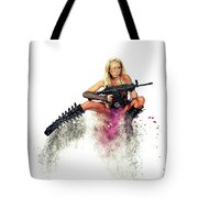 Action Girl Tote Bag