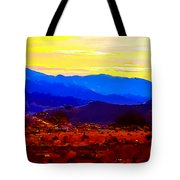 Acton California Sunset Tote Bag