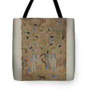 Adam & Eve Embroidered Picture Tote Bag