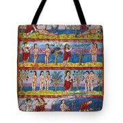 Adam And Eve. 9th Century Tote Bag