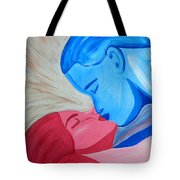 Adam And Eve Close Up Tote Bag