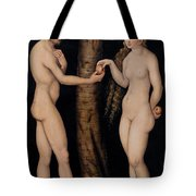 Adam And Eve In The Garden Of Eden Tote Bag