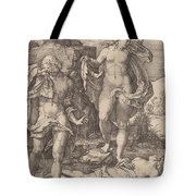 Adam And Eve Lamenting The Death Of Abel Tote Bag