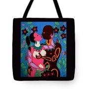 Adam And Eve Tote Bag