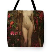Adam And Eve With The Snake Tote Bag