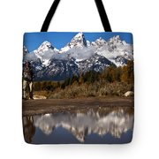 Adam Jewell At Schwabacher Landing Tote Bag
