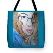 Addie In Blue Tote Bag