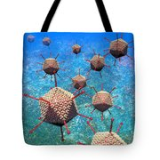 Adenovirus Particles 3 Tote Bag by Russell Kightley