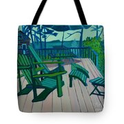 Adirondack Chairs Maine Tote Bag