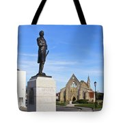 Admiral Lord Nelson And Royal Garrison Church Tote Bag