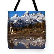 Admiring The Teton Sights Tote Bag
