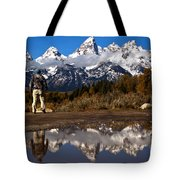 Admiring The Teton Sights Tote Bag
