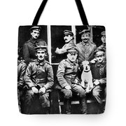 Adolf Hitler With  Fellow Soldiers From The List Regiment  Number Two Circa 1916 Tote Bag