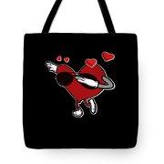 Adorable Cool Dabbing Heart Tote Bag
