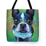 Adorable Boston Terrier Dog Tote Bag