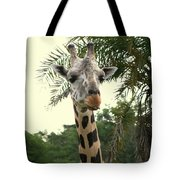 Adorable Grinning Giraffe Tote Bag