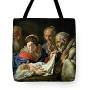 Adoration Of The Infant Jesus Tote Bag