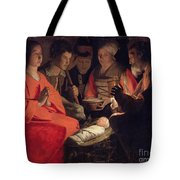 Adoration Of The Shepherds Tote Bag by Georges de la Tour