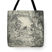 Adoration Of The Shepherds, With Lamp Tote Bag