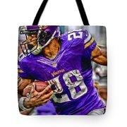 Adrian Peterson Minnesota Vikings Art Tote Bag