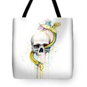 Adventure Time Skull Jake Finn Lady Rainicorn Watercolor Tote Bag by Olga Shvartsur