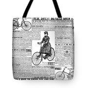 Advertisement, 1891 Tote Bag
