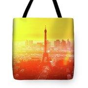 Sunset In Paris  Tote Bag