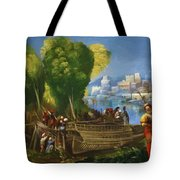 Aeneas And Achates On The Libyan Coast 1520 Tote Bag