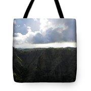 Aerial Canyon View Of Kauai Tote Bag