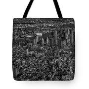 Aerial New York City Sunset Bw Bw Tote Bag