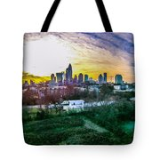 Aerial Of Charlotte North Carolina Skyline Tote Bag