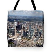 Aerial Of Downtown Toronto Ontario Tote Bag
