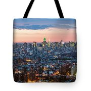 Aerial Of Midtown Manhattan With Empire State Building, New York Tote Bag