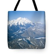 Aerial Of Mount Mckinley Tote Bag