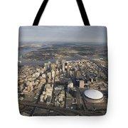 Aerial Of New Orleans Looking East Tote Bag