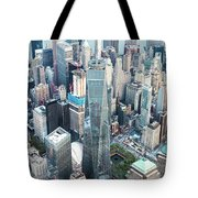 Aerial Of One World Trade Center, New York, Usa Tote Bag