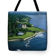 Aerial Of The Breakers, A Mansion Built Tote Bag