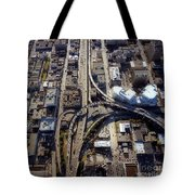 Aerial Of The Maze Near The Bay Bridge, San Francisco Tote Bag