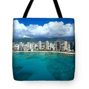 Aerial Of Waikiki Tote Bag