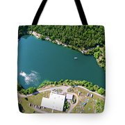 Aerial Over Blue Stone Quarry In North Carolina Tote Bag