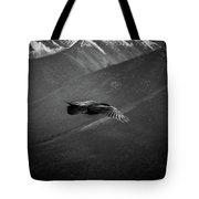 Aerial Predator Over Banff Tote Bag