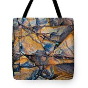 Aerial Rock Abstract Tote Bag