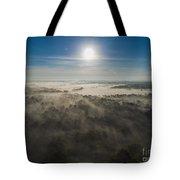 Aerial Sunrise Over Fog Tote Bag