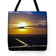Aerial Sunset Over Canal Tote Bag