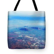 Aerial Usa. Los Angeles, California Tote Bag