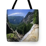 Aerial View From The Top Of The Upper Yosemite Fall Tote Bag