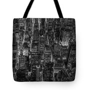 Aerial View Midtown Manhattan Nyc Bw Tote Bag