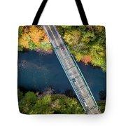 Aerial View Of A Bridge Tote Bag