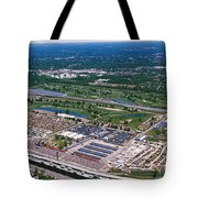 Aerial View Of A Racetrack Tote Bag
